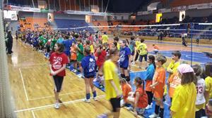 27. 1. 2013 Brno dívky barevný minivolejbal